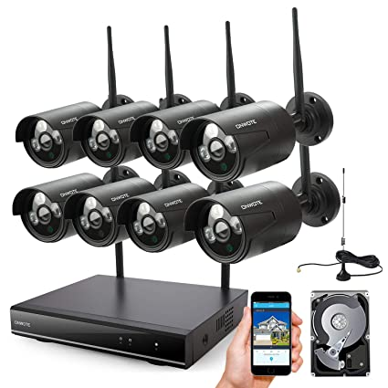b7bb3cedb53 ONWOTE 8 Channel 1080P HD Wireless Security Camera System Outdoor with 2TB  Hard Drive