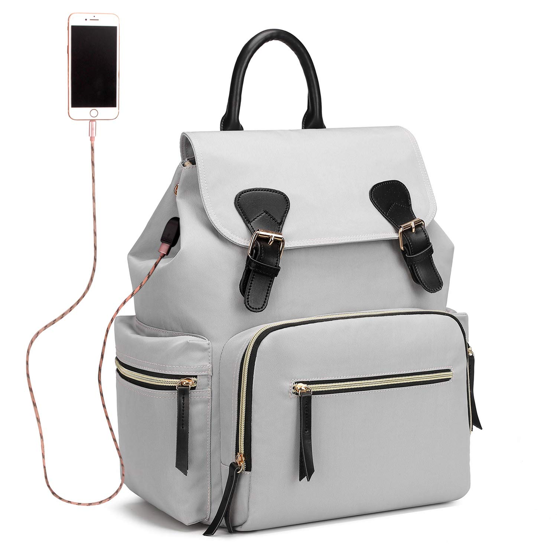 Qimiaobaby diaper backpack, waterproof nylon baby Nappy storage bag