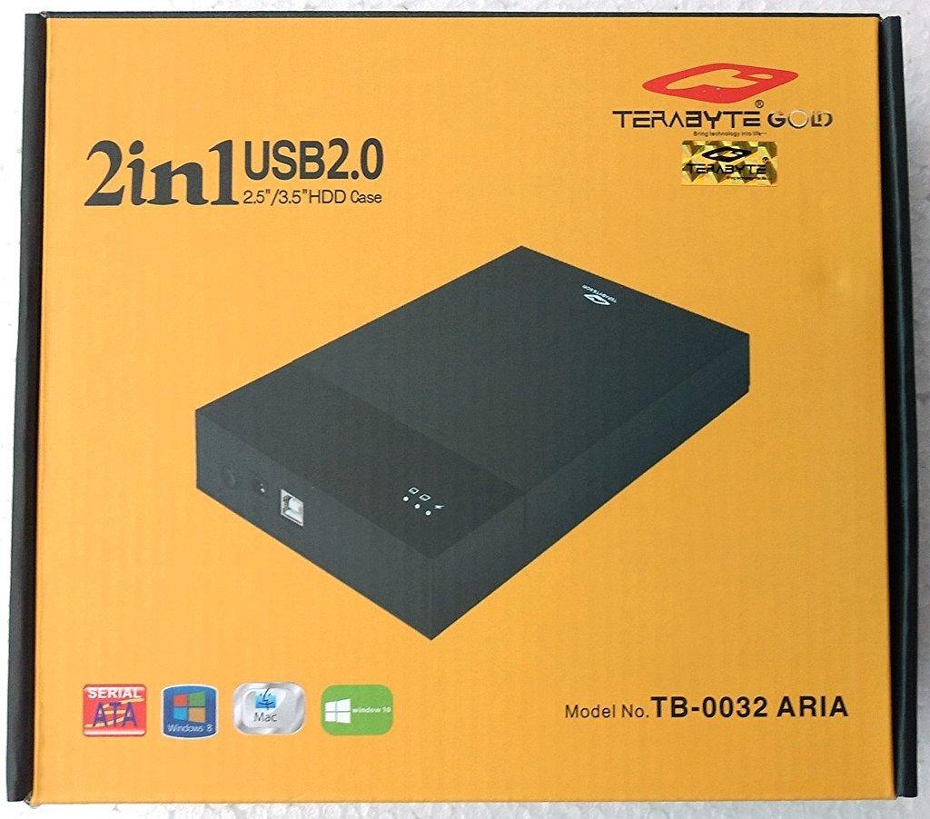 Terabyte 2 In 1 External Hard Drive Casing Black