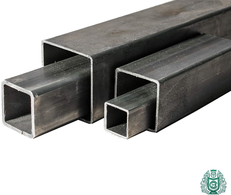 Longeur 2000/mm Tube rectangulaire en acier par B/&T Metall Tube carr/é ST37 0//- 3 mm 40 x 40 x 3/mm Noir