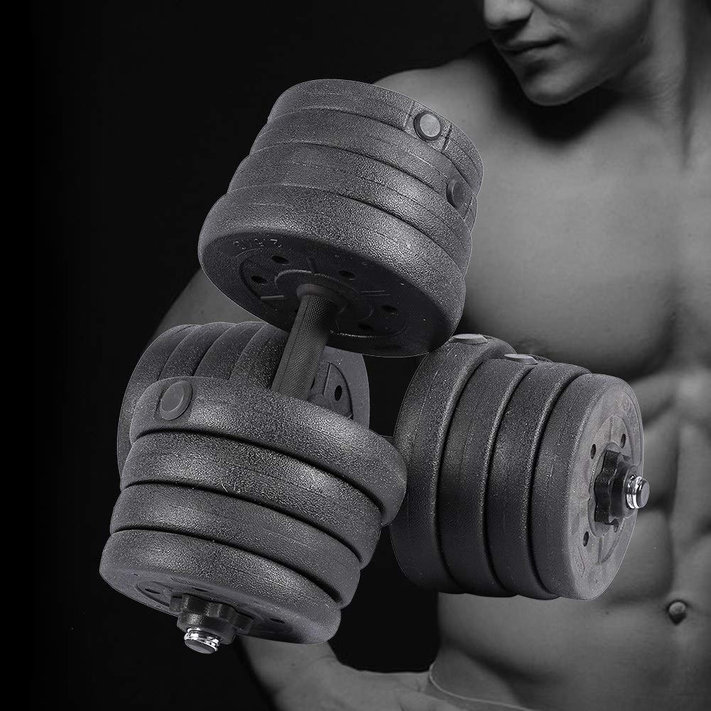 AYNEFY Dumbbell Set 2X Fitness Dumbbell Set Gym Dumbbell Set for Exercise Workout Biceps Triceps Free Weights Training 30KG