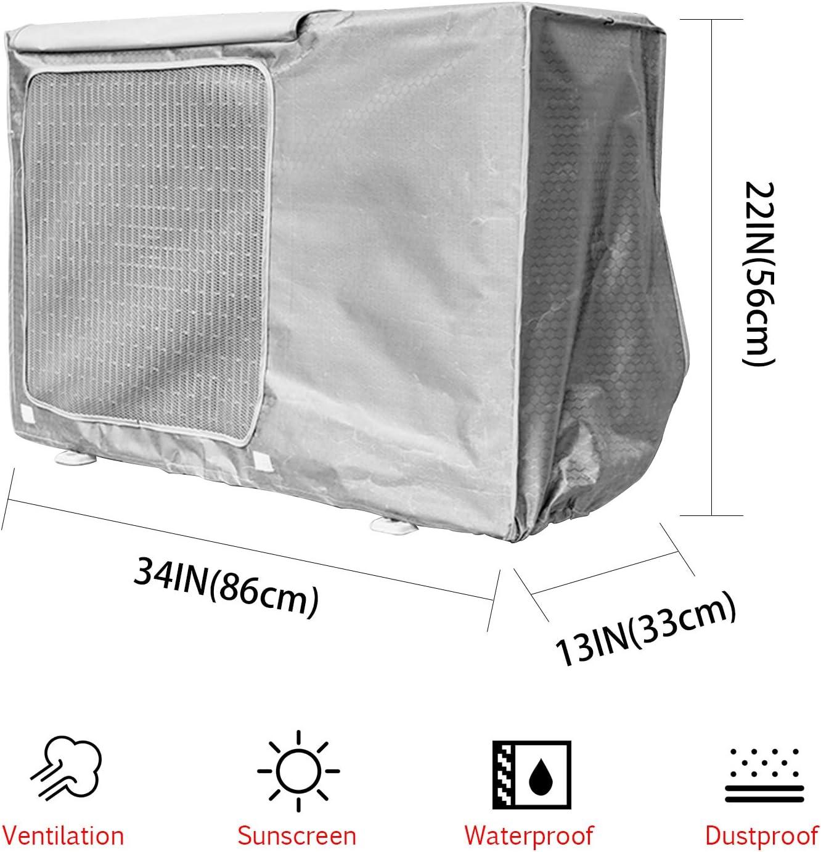 72*26*57cm Copertura Del Condizionatore Daria,Protezione Solare Antipolvere Impermeabile Durevole Copertura Del Condizionatore Daria Per Esterni,Copertura Di Protezione CA Per Finestre Esterne
