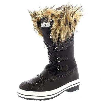 Womens Nylon Warm Duck Rain Snow Outdoor Tall Winter Rain Boots