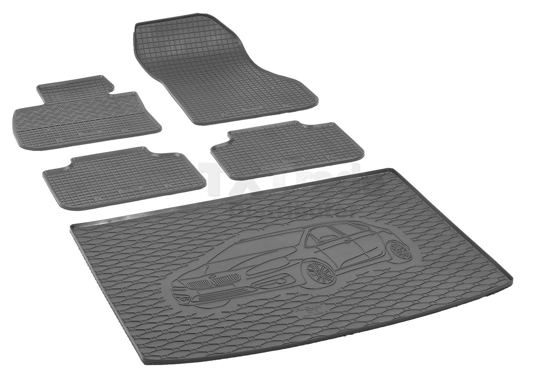 Set di tappetini in gomma e vasca per bagagliaio adatti per BMW 2 Active Tourer dal 2015.