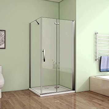90 x 76 x 185 cm de ducha mampara de ducha plegable con diseño de ...