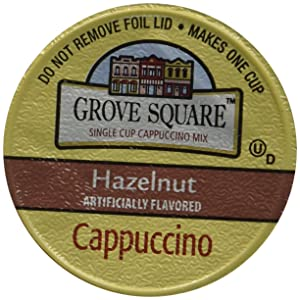 Grove Square Cappuccino Cups, Hazelnut, Single Serve Cup for Keurig K-Cup Brewers, 24 Count (Pack of 2) - Packaging May Vary