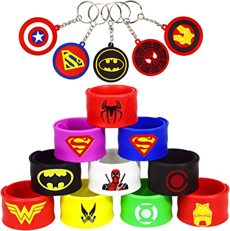Childrens Superhero Birthday Wedding Loot Party Bag Filler Kids Boys Girls