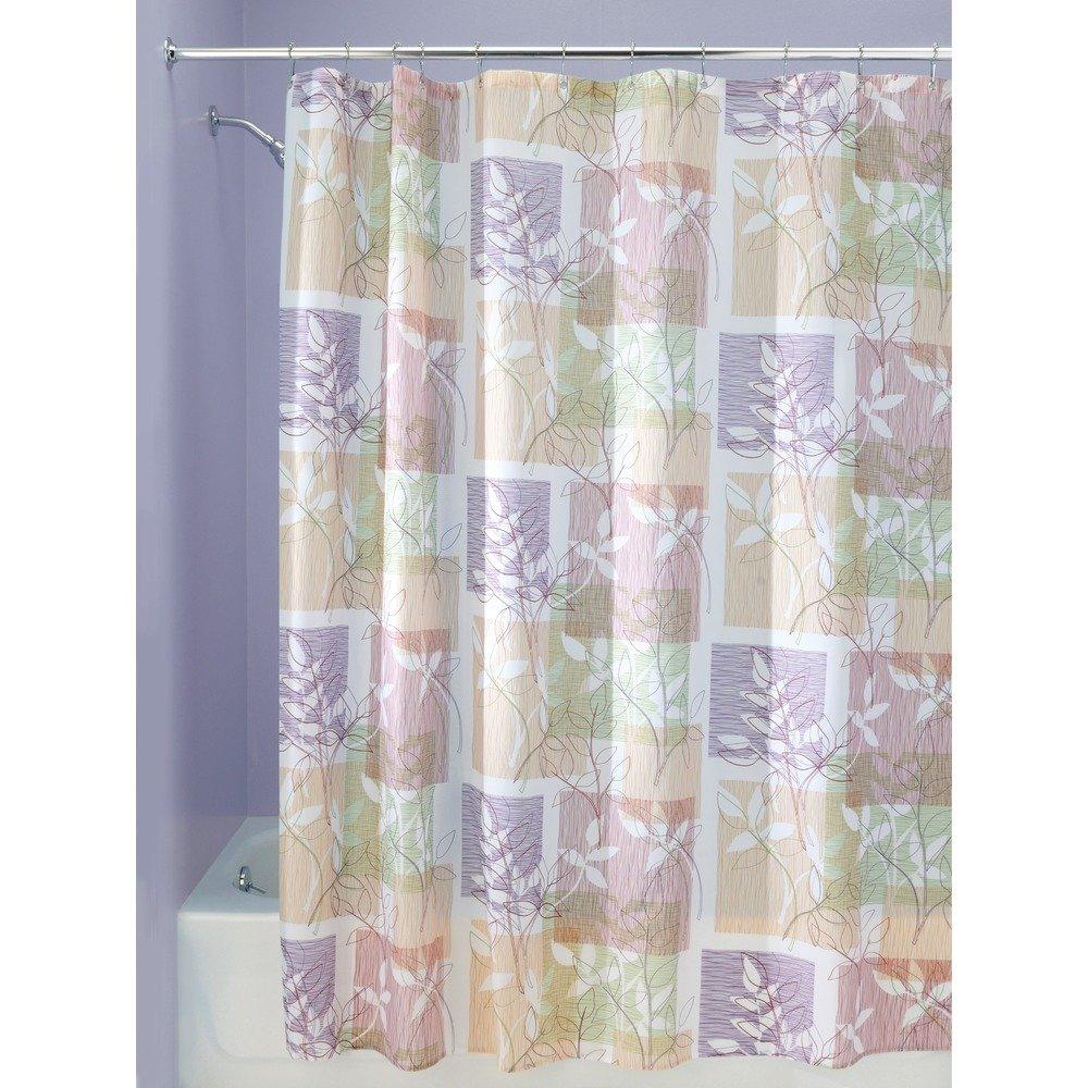 InterDesign Botanical Shower Curtain, 72 X 72-Inch, Vivo
