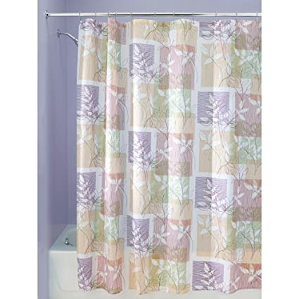 InterDesign Vivo Botanical Fabric Shower Curtain