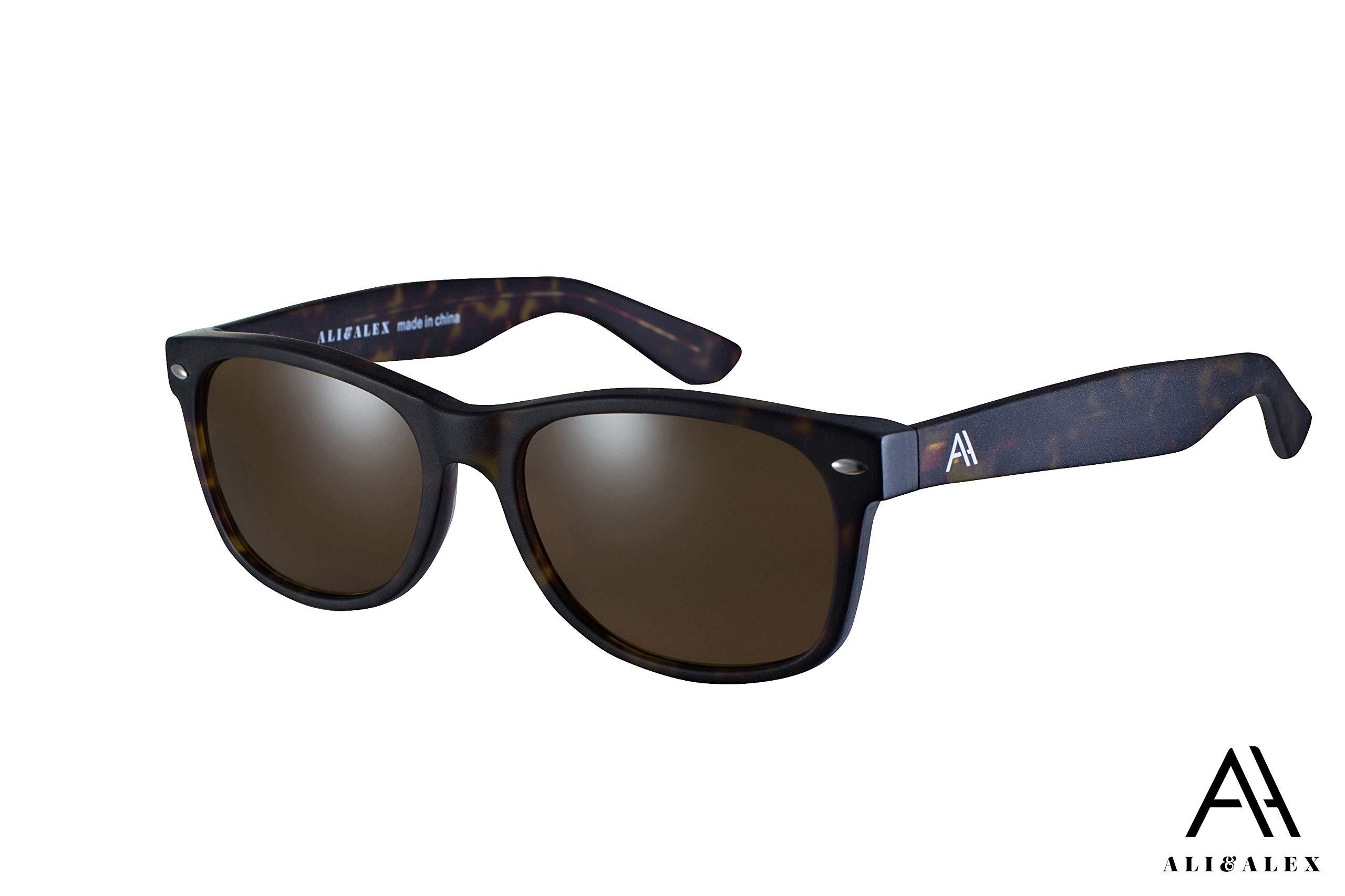 Ali&Alex Classic Square 100% UV Polarized Adult Unisex Designer Sunglasses by Ali&Alex