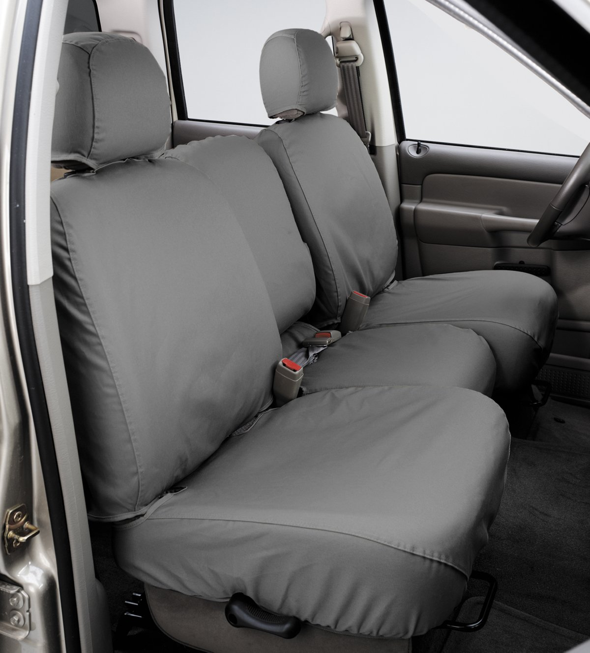 Polycotton Covercraft SS8393PCGY SeatSaver Second Row Custom Fit Seat Cover for Select Ford F-250 Super Duty//Ford F-350 Super Duty Models Grey