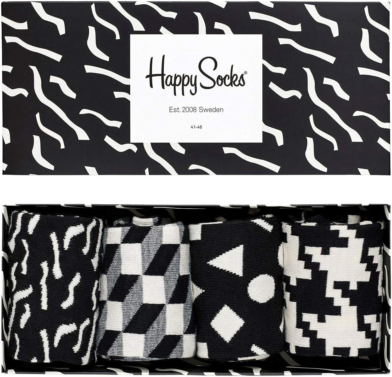 Happy Socks Calzini Pacco da 4 Uomo