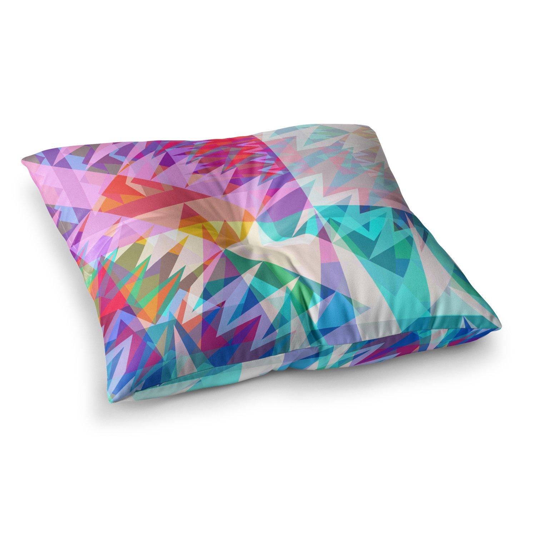 Kess InHouse Miranda MOL Triangle Feast Abstract Geometric, 23' x 23' Square Floor Pillow