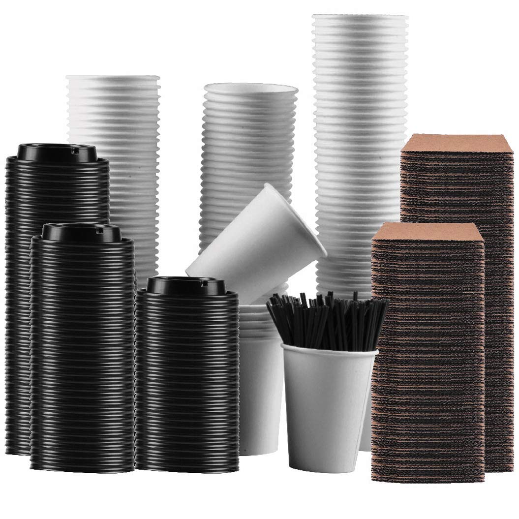 Gotopack Coffee Cups 12OZ 120 Pack Disposable Coffee Cups