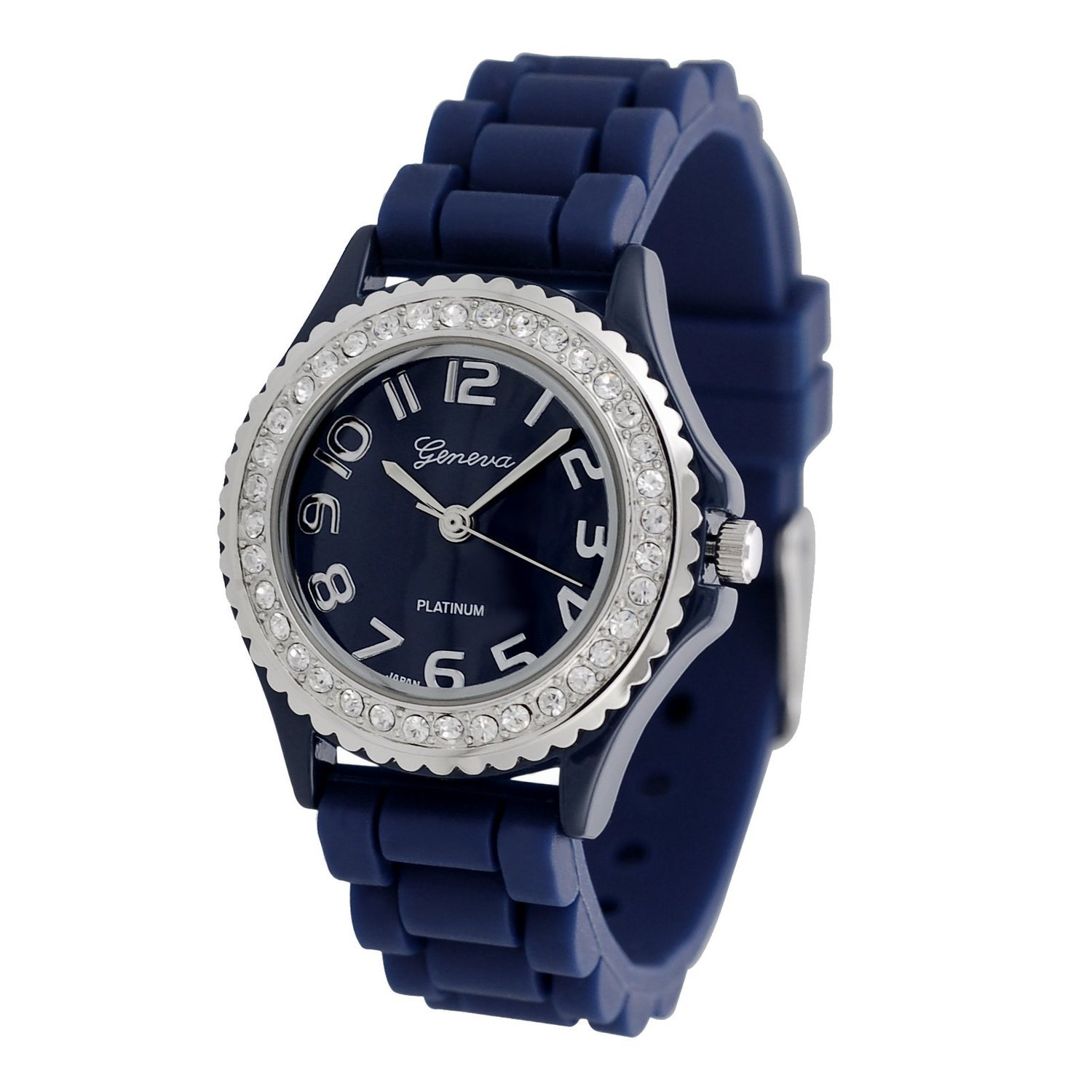 with dial and polaris bracelet blue stainless navy case watches bra