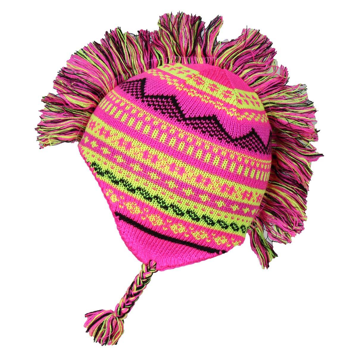Little Girls Winter Knit Hat /& Mittens 2 Piece Set Fair Isle Peruvian Cap