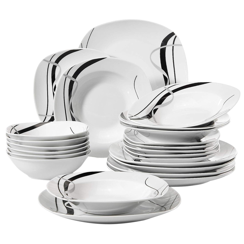 Vajilla de porcelana con diseño floral y platos, platos de cocina, plato de sopa