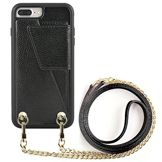 huge discount 86a14 0f06f iPhone 7 Plus Wallet Case Crossbody Strap, ZVEdeng iPhone 8 Plus ...