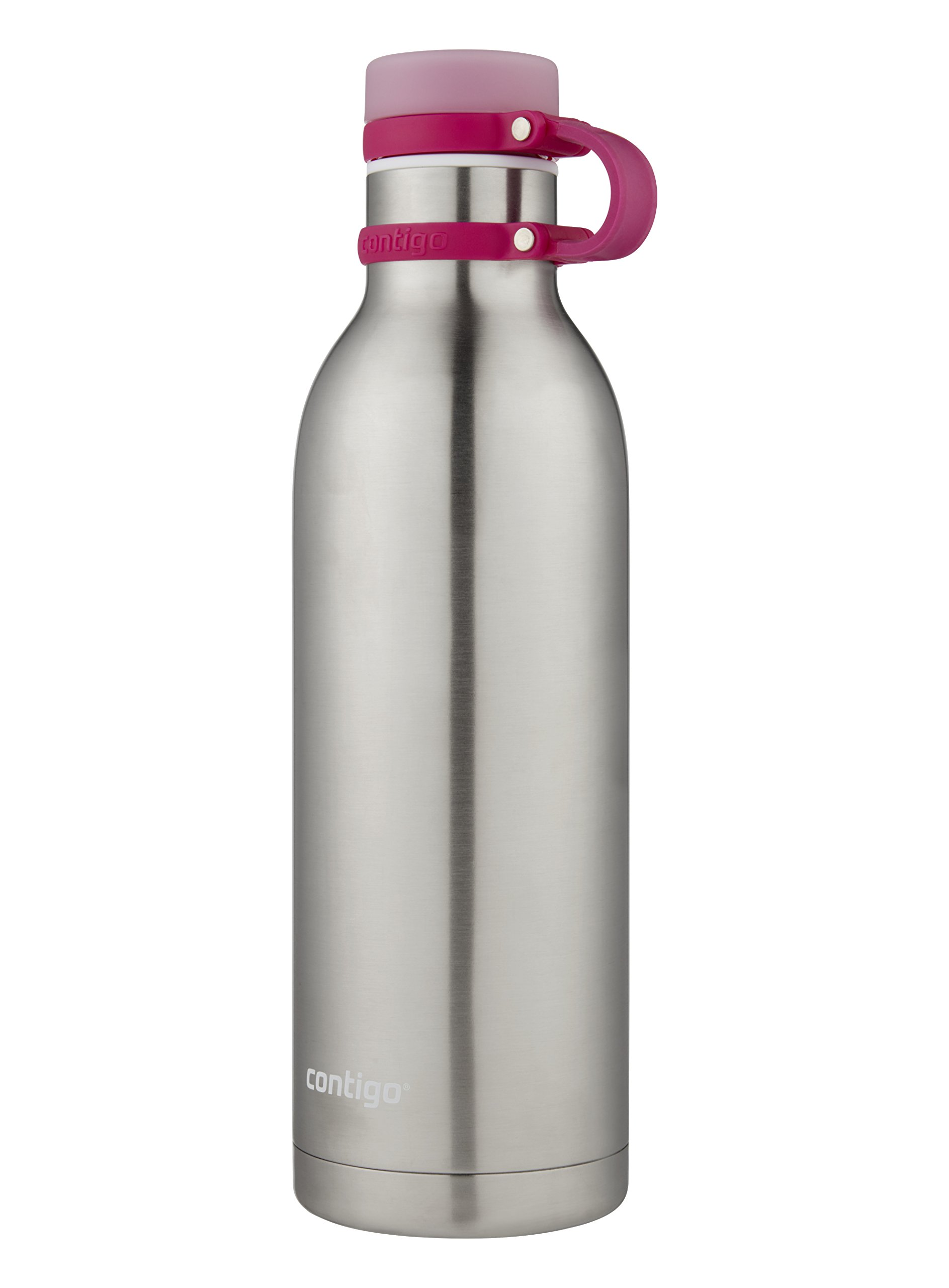 Contigo THERMALOCK Matterhorn Stainless Steel Water Bottle, 32 oz, Stainless Steel with Very Berry Accent by Contigo