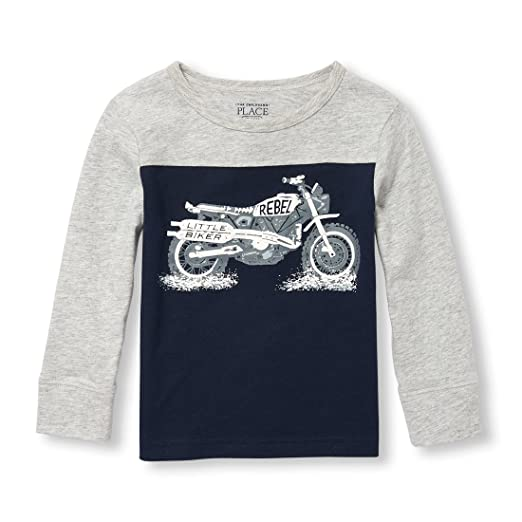 be2a006cf3e The Children's Place Baby Boys Long Sleeve Big Vehicle Graphic Tee
