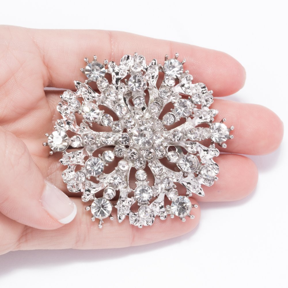 Brooches for Weddings Bulk, 100pcs Rhinestone Brooches 2 inches -Totally Dazzled by Totally Dazzled (Image #2)