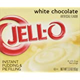 Jell-o Instant Pudding & Pie Filling, White Chocolate, 3.3-ounce Boxes (Pack of 4)