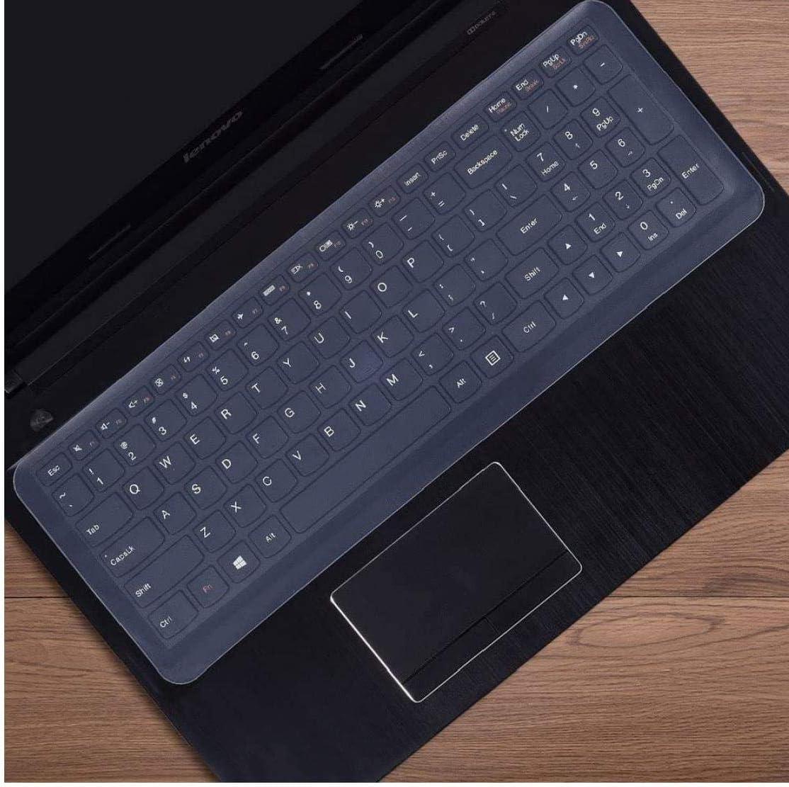 Protector de teclado Teclado universal escudo pel/ícula transparente de silicona durable del protector del teclado Film acomodar un port/átil Lenovo Dell