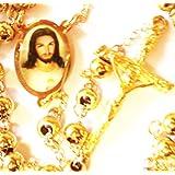 rosario de la virgen de guadalupe oro k joyera de cadena jess catlico confirmacin crucifijo