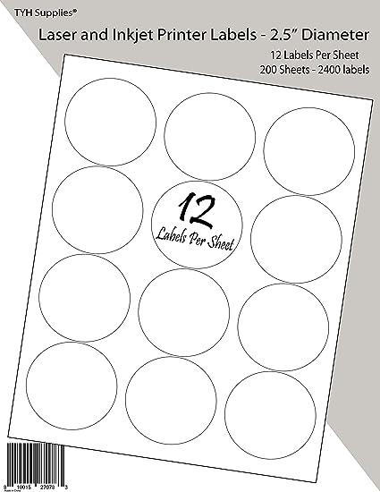 TYH Supplies - Etiquetas para impresora de alta visibilidad ...