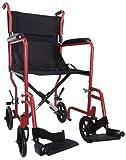 Ability Superstore - Kompakter und leichter Rollstuhl, rot