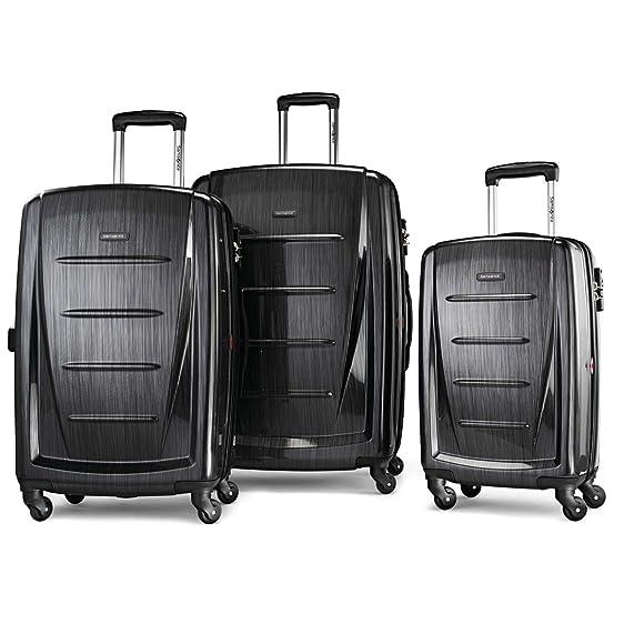 samsonite winfield 2 3pc hardside luggage set brushed