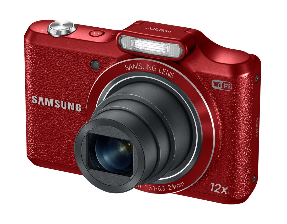 Samsung WB50F 16.2MP Smart WiFi & NFC Digital Camera with 12x Optical Zoom and 3.0'' LCD (Red)