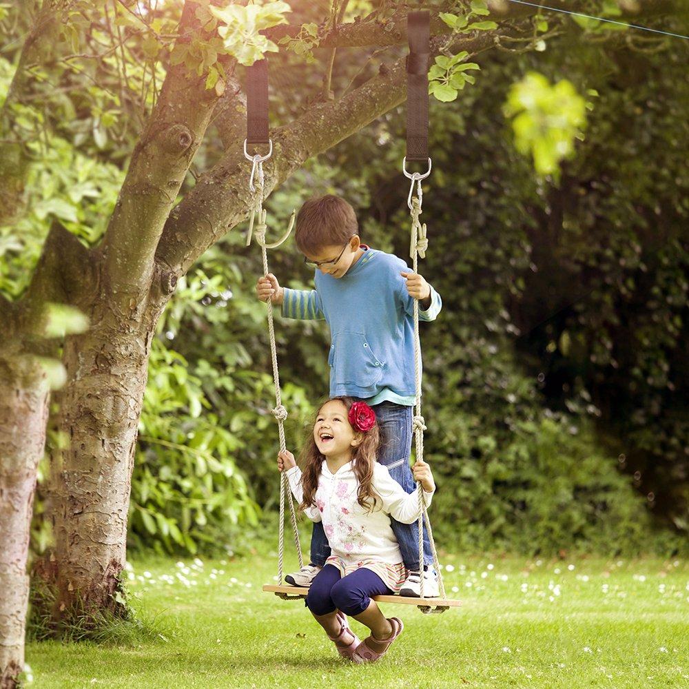Amazon.com: Coolife Árbol Swing correas seguridad Swing ...