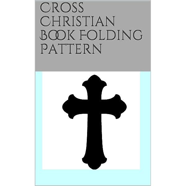 Religious Jesus Cross Folded Book Art- Jesus Book Sculpture Easter Book Folding Book Art Cross
