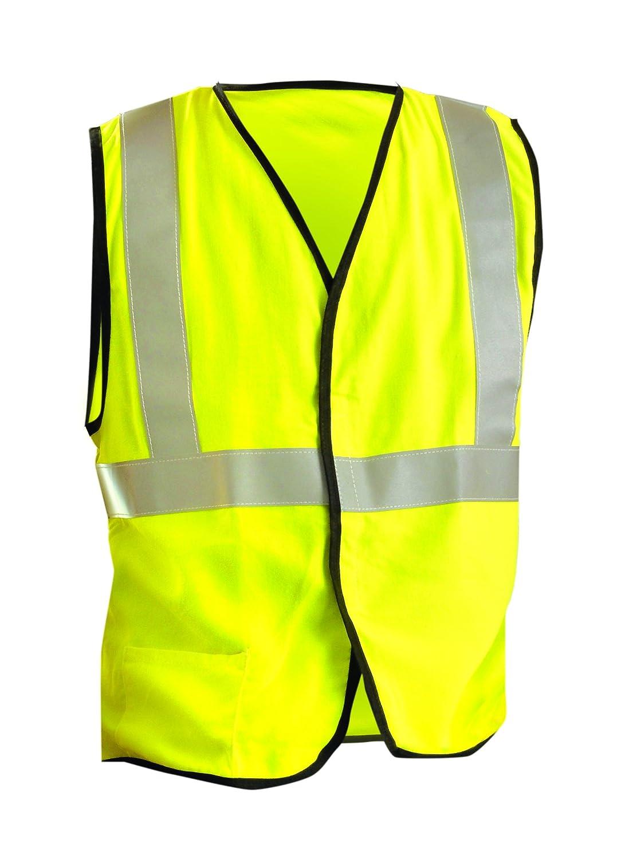 Occunomix LUX-SSGC/FR-Y4X Class 2 Premium Flame Resistant Single Stripe Mesh Vest, HRC 1 Protection, 4X-Large, Yellow by Occunomix B00647X5JQ