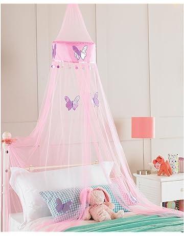 Ideal Textilien - Cortina de Dosel para Cama, Color: Rosa