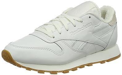 Reebok Damen Classic Leather Sherpa Pack Sneakers