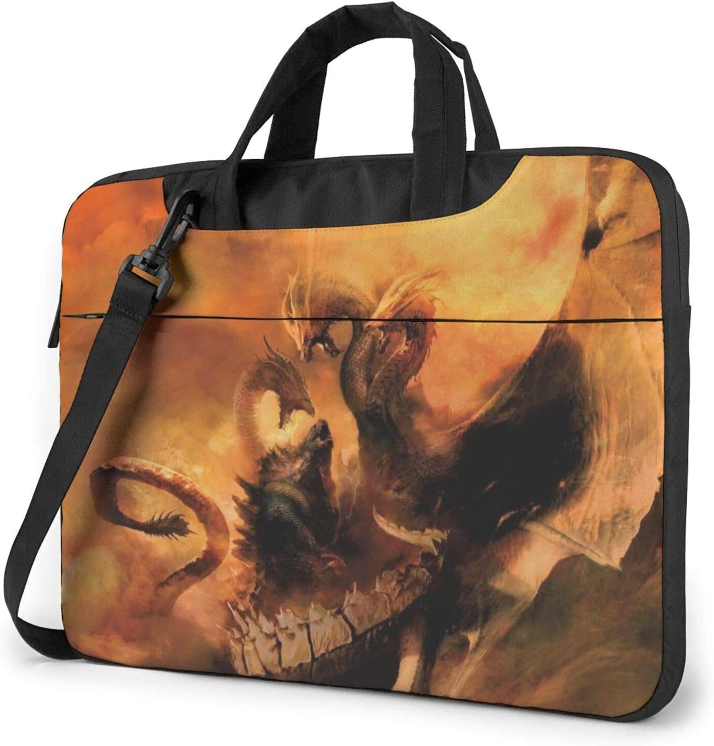 CHANGCHU5 Godzilla 13 14 15.6 Inch Laptop Carrying Bag - Protective Notebook Sleeve Case - Travel Briefcase Pouch with Handle 15.6 inch