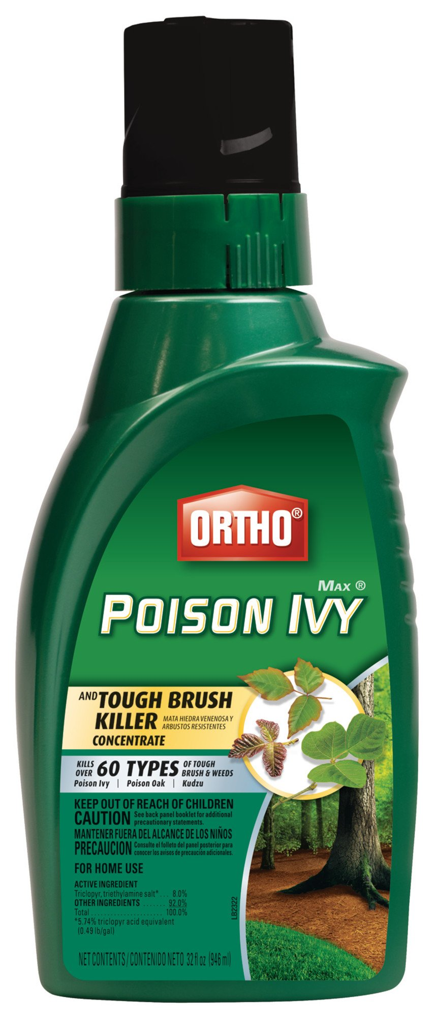 Ortho MAX Poison Ivy And Tough Brush Killer 32 Oz by Scotts