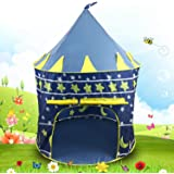 Zizer Kids Play Tent House Toys for Kids Pop Up Indoor/Outdoor Baby Princess Castle Tent Playhouse with Zipper Storage Case for Childrens Boys & Girls
