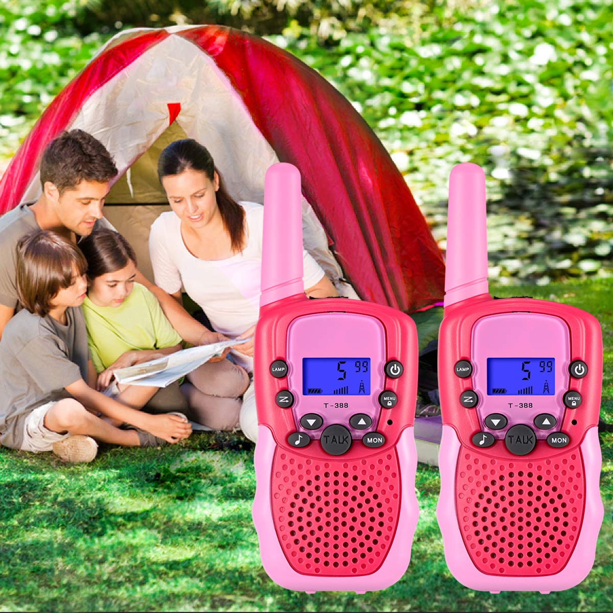SnowCinda Toys for 3-12 Year Old Girls,Walkie Talkies for Kids with 22 Channels 2 Way Radio 3 Miles Long Range Toy for Outside Adventures, Best Gifts for 4-8 Year Old Boys and Girls by SnowCinda (Image #6)