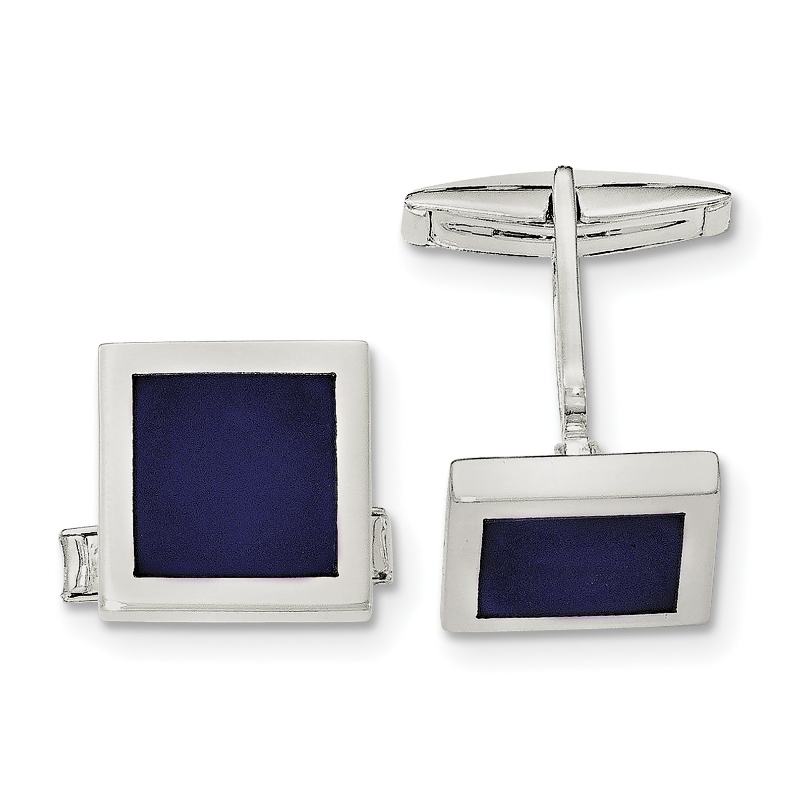 ICE CARATS 925 Sterling Silver Lapis Cuff Links Mens Cufflinks Link Fine Jewelry Dad Mens Gift Set by ICE CARATS (Image #1)