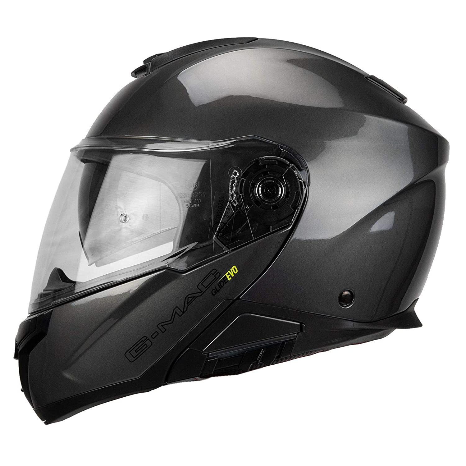 G-Mac Glide Evo color gris Casco de moto con tapa frontal