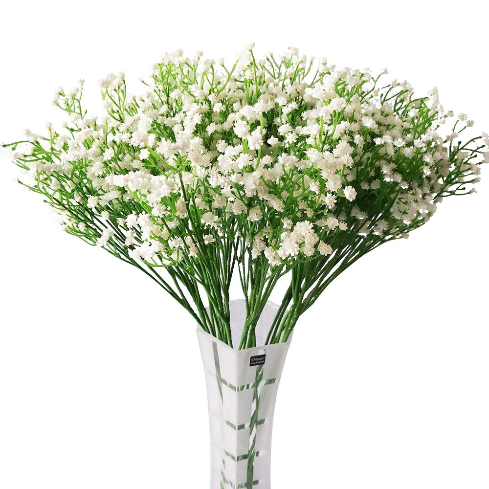 LYLYFAN 12 Pcs Babys Breath Artificial Flowers, Gypsophila Real Touch Flowers for Wedding Party Home Garden Decoration by LYLYFAN