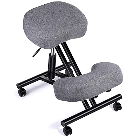 Awe Inspiring Superjare Cotton Linen Ergonomic Kneeling Chair Stool For Improving Posture 4 Inches Thick Cushion 5 Adjustable Heights Kneeling Stool For Pdpeps Interior Chair Design Pdpepsorg