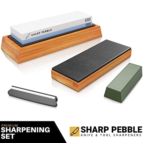 Amazon.com: Sharp Pebble - Piedra de afilar (grano dual ...
