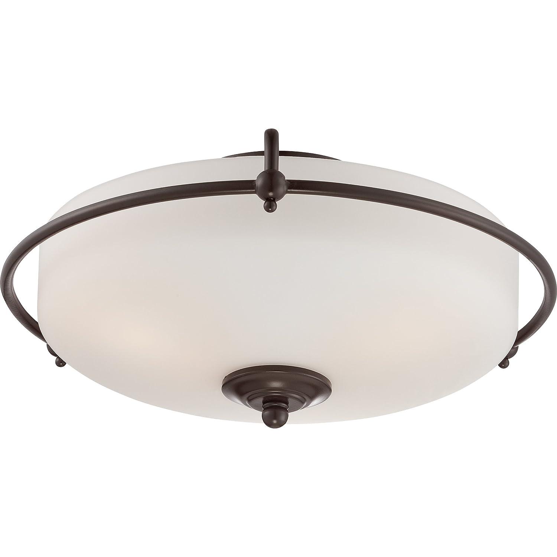 Quoizel GF1621PN Griffin Flush Mount Ceiling Lighting 4-Light Palladian Bronze 9 H x 21 W 240 Watts Palladian Bronze 9 H x 21 W