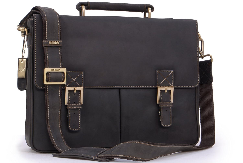 Visconti Hunter Leather Briefcase Messenger Bag A4-18716 Berlin   B0018DHEHU