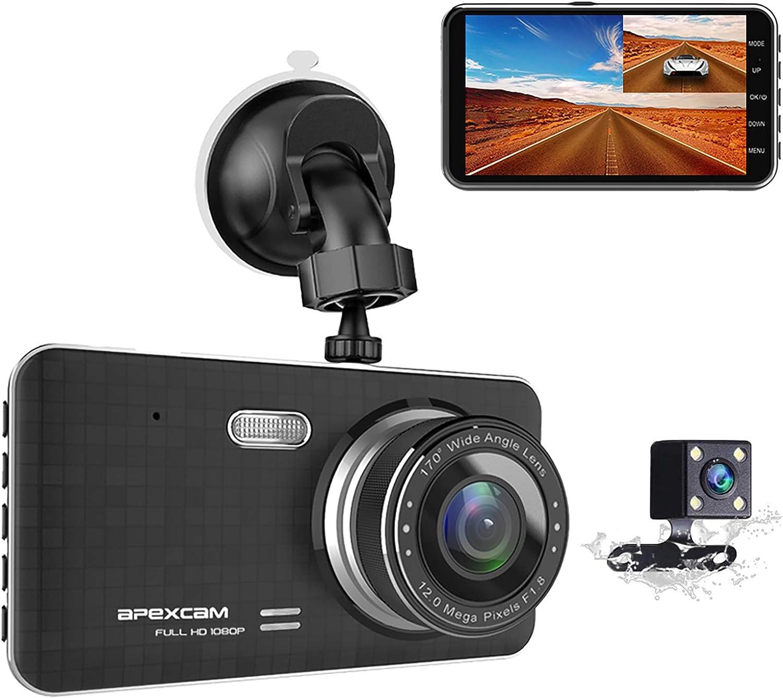 Apexcam Dashcam 4 0 Ips Full Hd 1080p Auto Kamera Elektronik