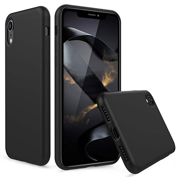 quality design 63c97 dcd8f PENJOY Silicone Case for Apple iPhone XR 6.1 inch (2018 New), Full Body  Protection Silicon Cases Support Wireless Charging Slim Rubber Cover  (Diamond ...